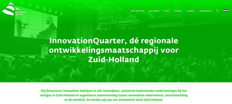 Innovation Q website screendump