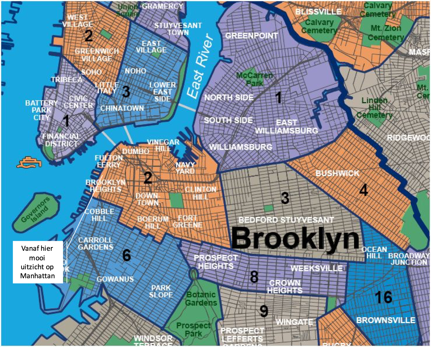 Brooklyn city map