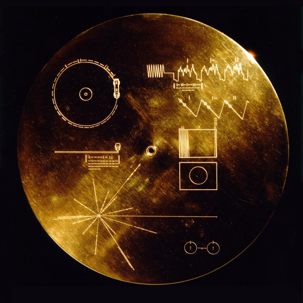 Golden circular record of Voyager.
